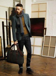 jacket, men styles, sharp gentleman, men fashion, menswear, beard, scarves, winter layers, style blog