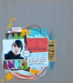 """Cocoa Daisy lift for July by neicygirl - using the Balzer Designs """"Blazonry"""" stencil"""