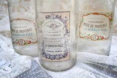 Crafts:  DIY: Vintage Holiday Bottle Decor with  Labels.
