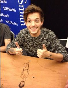 Louis at the book signing!
