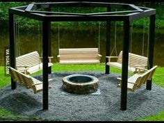 Fire pit swings. Perfect!!