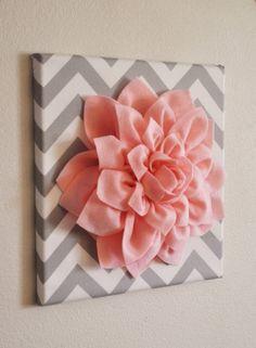 fabric flowers, baby girl rooms, girl nurseries, diy wall art, baby girls, little girl rooms, wall flowers, felt flowers, babies rooms