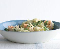 Lemony Risotto with Asparagus and Shrimp Recipe   Epicurious.com