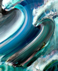 *Teal / *Turquoise ~ Surf Art by John Severson