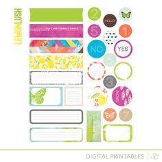 LemonLush - free Printable Shapes
