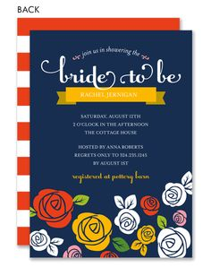Something Blue Bridal Shower Invitation  by Noteworthy Collections