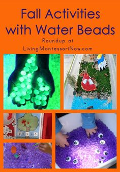 Fall Activities with Water Beads #SuliaMoms #preschool