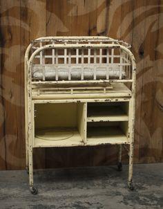 Vintage Metal Infant Carrier