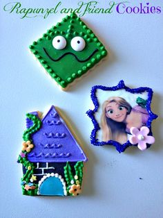 tangled cookies by ronisugarcreations