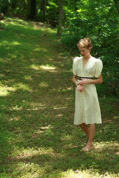 I can't believe how gracious & simple (organic cotton muslin voile) dress is. By Unabashed Apparel