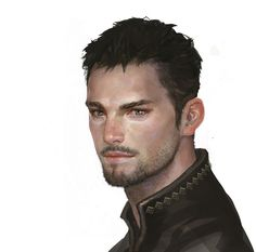 Scruffy Young Man, Painting, illustration.