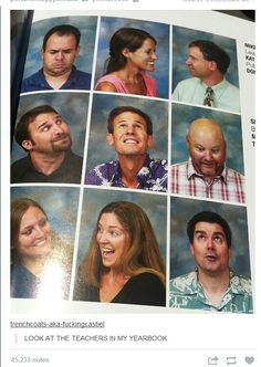 This would be a great idea for a high school yearbook.