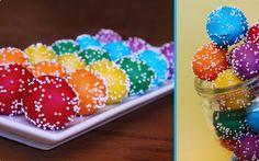 rainbow cakepops!