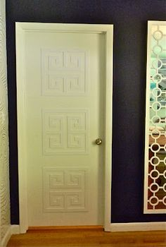 Do this for any plain builder door! O'verlays ™ by Danika & Cheryle llc