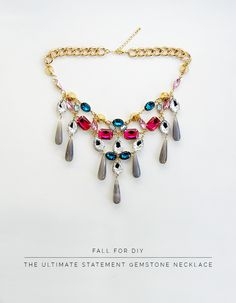 Fall For DIY the Ultimate Statement Gemstone Necklace