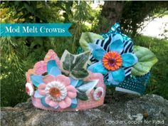 Mod Melt Fairy Crown for kids by @Candie Cooper using Mod Podge Mod Melts - cute for a birthday party or even halloween - or what about a kids tea party? Click for the full tutorial