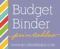 budget binder printables