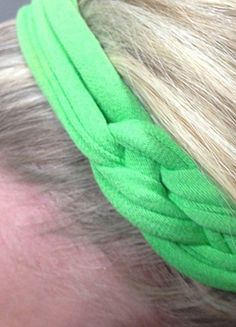 Transform and old t-shirt into a new and stylish braided headband for back to school. :)