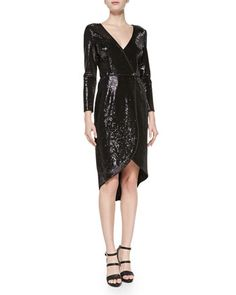 sequin wrap dress //