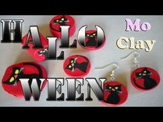 ▶ Halloween Black Cat Polymer Clay - Tutorial Gatto nero con paste sintetiche. - YouTube