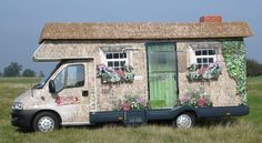 Cottage camper ! trailer, country cottages, caravan, glamp, paint, hous, homes, vintag camper, vintage campers
