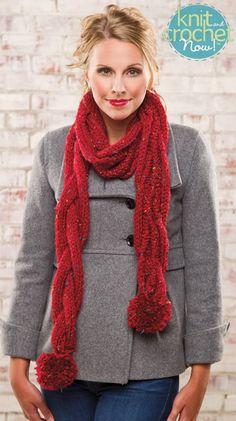 Free Knitting Pattern Tweedy Eyelet Scarf : Free Scarf of the Week Knitting Patterns on Pinterest Scarf Knit, Free Knit...