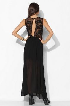 Keepsake Desert Rose Chiffon Maxi Dress. Urban Outfitters