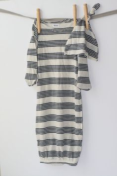 Striped Baby Gown for Baby Boy by BabyPint on Etsy, $20.00