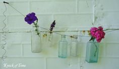 DIY Bud Vase Garland  ~~via Knick of Time