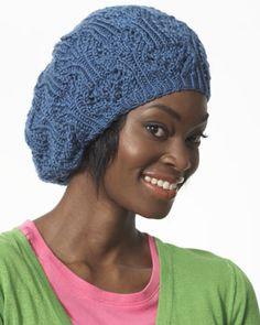 Bernat Satin - Slouchy Lace Beret (knit)