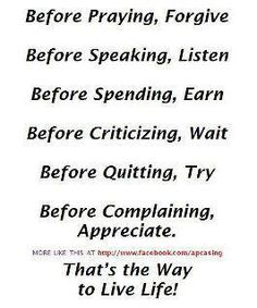 The right way...to a happy life.