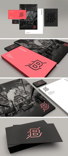 Amazing example of personal branding. Logo being used on different surfaces with numerous colors. A way to present your brand in different ways. Very creative.