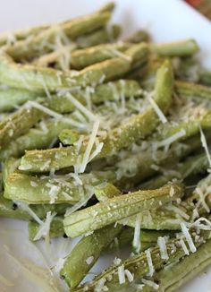 MOMMY ON DEMAND: Roasted Parmesan Green Beans
