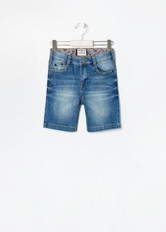 Medium denim bermuda shorts #MANGOKids #FW14 #Kids