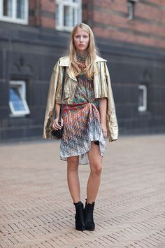 Embrace the metallic trend by shopping the look here - http://dropdeadgorgeousdaily.com/2014/05/metallic-fashion/
