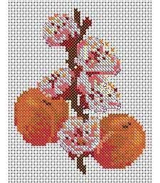 Peach Flower, from DMC club.