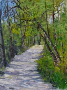 """Into the Woods  9 x 12  oil on Linen  $300.00"" - Original Fine Art for Sale - © Vincenza Harrity"