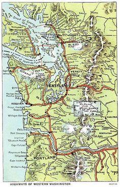 Washington Map  1920