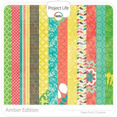Project Life - Amber - Paper Pack; digital