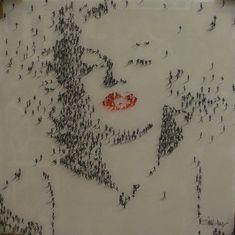 People as pixels by Alan Craig
