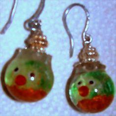 Glass Goldfish Earrings in Goldfish Bowls