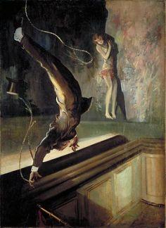Everett Shinn | Acrobat Falling