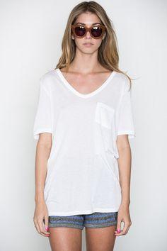 T by Alexander Wang Women's - White Classic Tee w/ Pocket