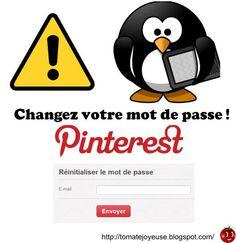 Le fournisseur de support Zendesk a été hacké. Il faut absolument changer son mot de passe sur #Pinterest Lire la suite sur le blog de Tomate Joyeuse http://tomatejoyeuse.blogspot.com/2013/02/pinterest-alerte-changez-votre-passe.html