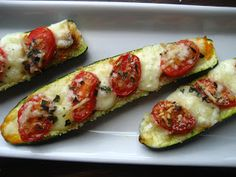 ZUCCHINI + TOMATOES // Home Cooking In Montana: Zucchini Boats .....filled with Grape Tomatoes