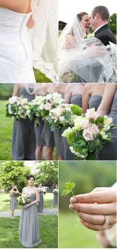 green and gray wedding