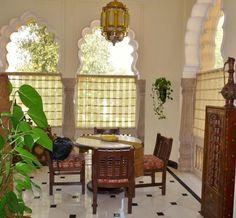 Dining area, Maharani Suite, Taj Rambagh Palace hotel, Jaipur