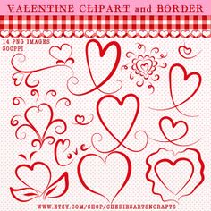 Valentine Clipart Valentine Graphics Heart by CheriesArtsnCrafts, $2.75