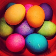 My mom's Easter Eggs. Very pretty.