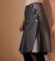 diy button skirt